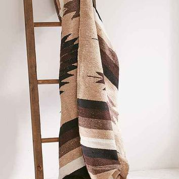Woven Geo Falsa Blanket + Leather Carrier Set