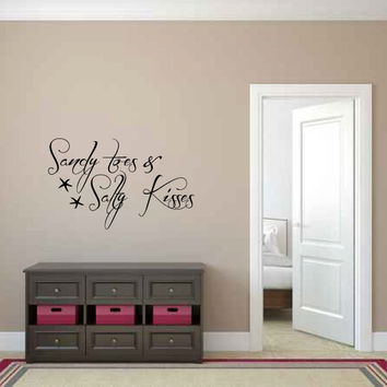 Sandy Toes & Salty Kisses Vinyl Wall Words Decal Sticker Graphic