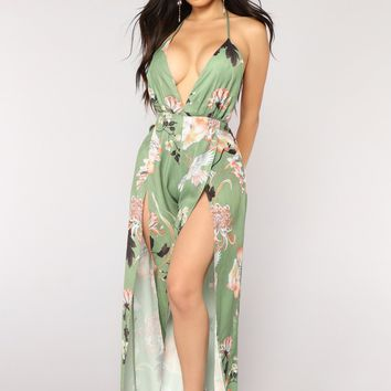 Never Be Mine Jumpsuit - Olive