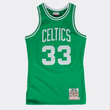 NBA Mitchell & Ness Boston Celtics Larry Bird Green Authentic Throwback Jersey