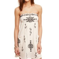 EMBROIDERED TWO POCKET TUBE DRESS