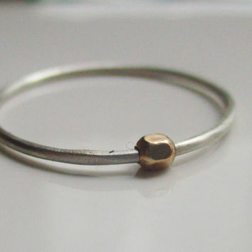Fidget Ring, Tiny Bead Worry Ring, Anxiety Ring
