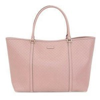 Gucci Women's Light Pink GG Microguccissima Soft Calf Leather Joy Shopping Tote 449648