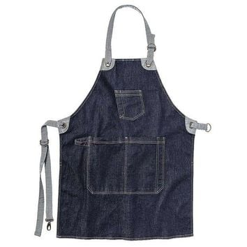 DCCKJG9 Toad & Co Arlo Apron - Men's One Size - Dark Denim