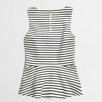 Factory ponte peplum top in stripe : tanks & camis | J.Crew Factory