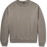 Alexander Wang - T By Alexander Wang Oversized Cotton-Blend Jersey Sweatshirt