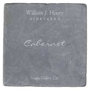 Customizable Slate Stone Wine Coasters