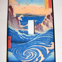 Light Switch Cover - Light Switch Plate Japanese Ocean Wave Seascape
