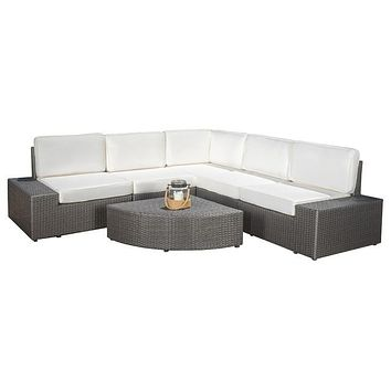 2016 Living Room Sofa Outdoor Rattan Wicker 6 Piece Sofa Sectional Set