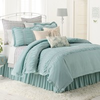 LC Lauren Conrad Lily 3-pc. Reversible Comforter Set - King/Cal. King (Blue)