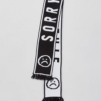 Lazy Oaf Sorry I'm Late Football Scarf at asos.com