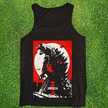Godzilla Casual Wear Sporty Cool Tank top Funny Tank Cute Direct to garment