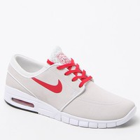 Nike SB Janoski Max Leather Shoes - Mens Shoes - White/Red