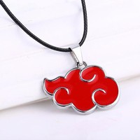 Naruto Akatsuki Red Cloud Anime Necklace