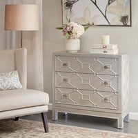 Madison Park Garland Metallic 3 Drawer Chest   Overstock.com Shopping - The Best Deals on Coffee, Sofa & End Tables