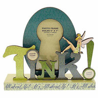 """disney parks tinker bell words i's all about me 5""""x7"""" picture frame new"""