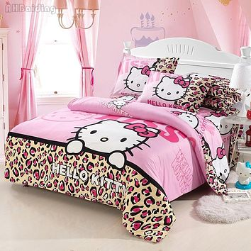 Home Textiles Children Cartoon Hello Kitty Bedding Set,-Duvet Cover