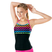 Chevron Print Strappy Back Dance Top - Balera