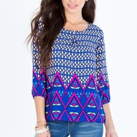 Bold Abstract Blouse