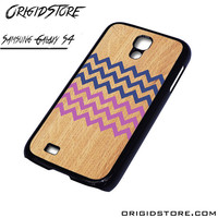 Geometrical Wood Chevron Case For Samsung Galaxy S4 Case