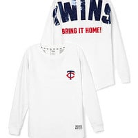 Minnesota Twins Bling Varsity Crew - PINK - Victoria's Secret