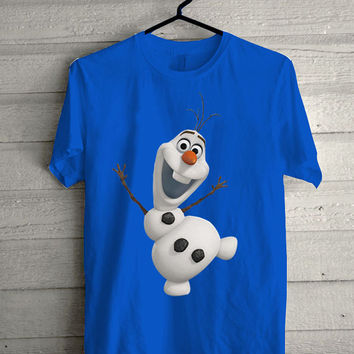 olaf the frozen disney Screen print Funny shirt for t shirt mens and t shirt girl size s, m, l, xl, xxl