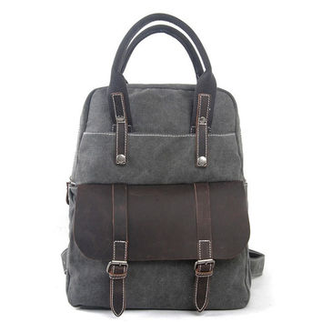 Kita – Leather & Waxed Canvas Backpack