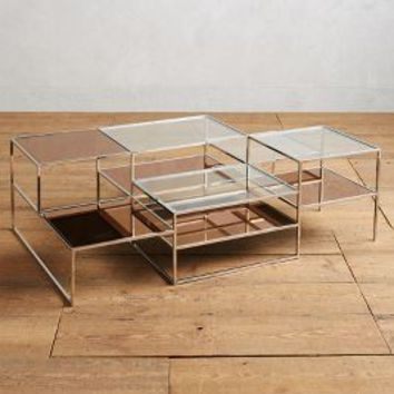 Layered Framework Coffee Table by Anthropologie in Clear Size: One Size Furniture