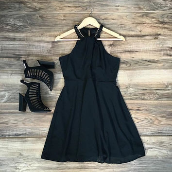 Hot Sale Summer Black Sexy One Piece Dress [6049265537]