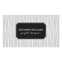 Classy Vertical Gray Stripes Professional Business Card