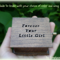 music box, wedding music box, wooden music box, custom music box, forever your little girl, music box shop, mother of the bride,gift for mom