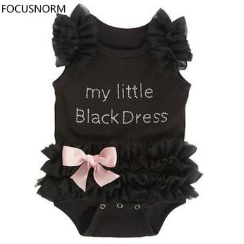 FOCUSNORM Toddler Baby Girls Clothes Lace Tulle Sleeveless Bodysuit Jumpsuit Outfits Costume
