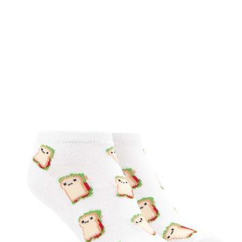 Sandwich Print Ankle Socks