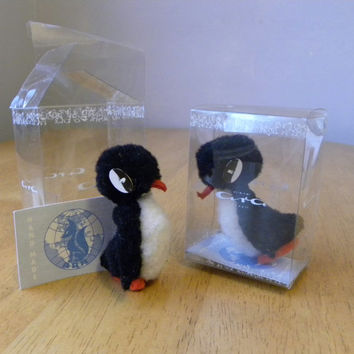 Ara Penguin - Vintage Miniatures - Miniature Penguins - Two Available