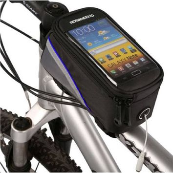 MTB Road Bike Bicycle Handlebar Bag For iphone 7 5s 5 6 6s case Outdoor Cycling Front Basket Pannier Frame Waterproof Bike Bags