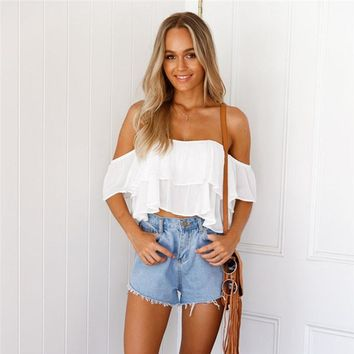 Pullover Off Shoulder Casual Blouse