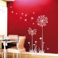 wall decal nursery wall decal flower vinyl wall decal dandelion wall stickers wall decal floral wall decal baby-Dandelions