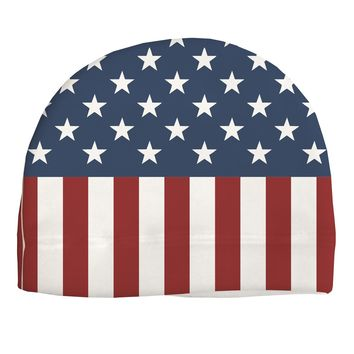 Stars and Stripes American Flag Adult Fleece Beanie Cap Hat All Over Print by TooLoud