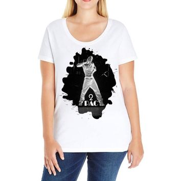 tupac shakur (1) Ladies Curvy T-Shirt