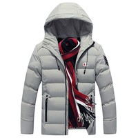 Champion 2018 winter new men's sports and leisure warm jacket down jacket grey