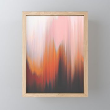 Give In Framed Mini Art Print by duckyb
