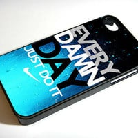 Every Damn Day Just Do It Nike Blue - iPhone 4 / iPhone 4S / iPhone 5 Case Cover