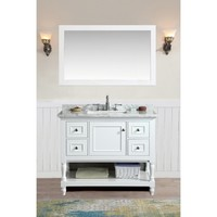 Ari Kitchen and Bath Cape Cod White 42-inch Single Bathroom Vanity Set with Mirror | Overstock.com Shopping - The Best Deals on Bathroom Vanities
