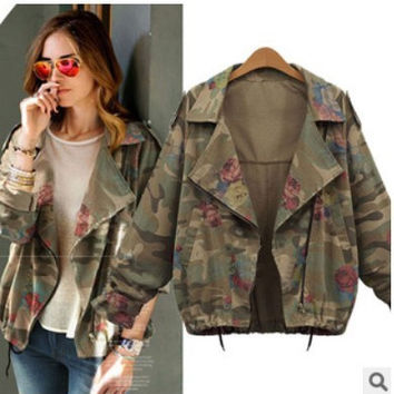 2016 Trending Fashion Women Loose Outerwear Jacket