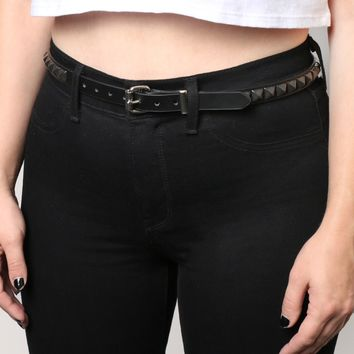 Rock Show Studded Belt - Black - What's New at Gypsy Warrior
