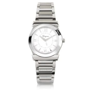Salvatore Ferragamo Designer Women's Watches Vega Silver Tone Stainless Steel Women's Watch