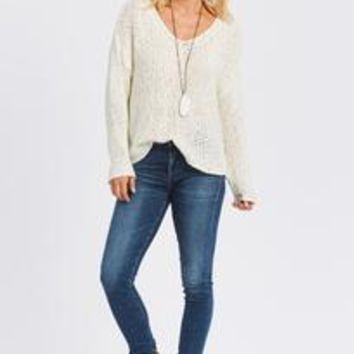 V Neck Sweater by KERSH