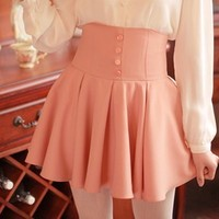 pink skirt high waisted