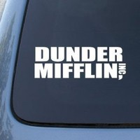DUNDER MIFFLIN - The Office - Vinyl Car Decal Sticker #1911 | Vinyl Color: White