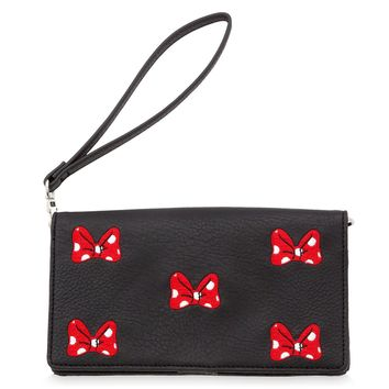Disney Parks Bow Crazy Minnie Mouse Crossbody Wristlet New with Tags